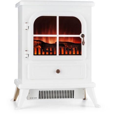 Klarstein St. Moritz Cheminée électrique 1850W Simulation de flammes - blanc