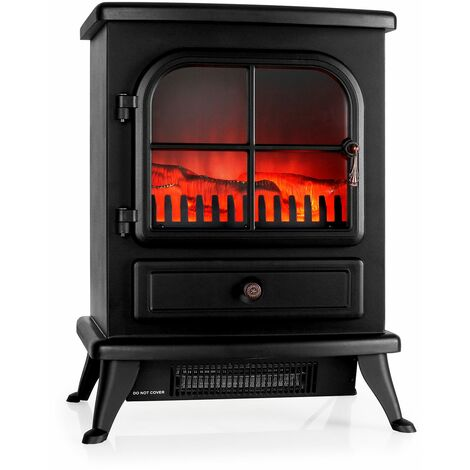 Klarstein St. Moritz Electric Fireplace Heater 1800W