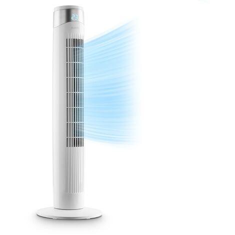 Klarstein Storm Tower ventilateur 3 types de vent 55 W 6 vitesses blanc
