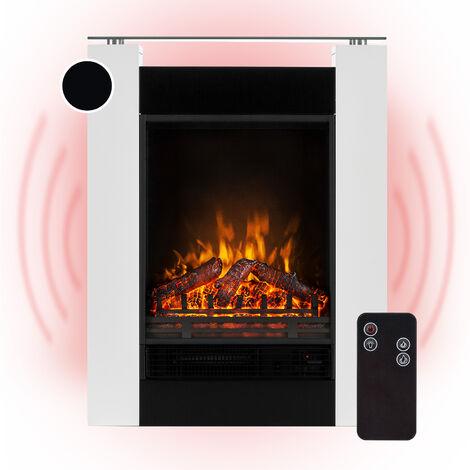 Klarstein Studio 5 Cheminée électrique radiateur soufflant 900/1800 W - Blanc