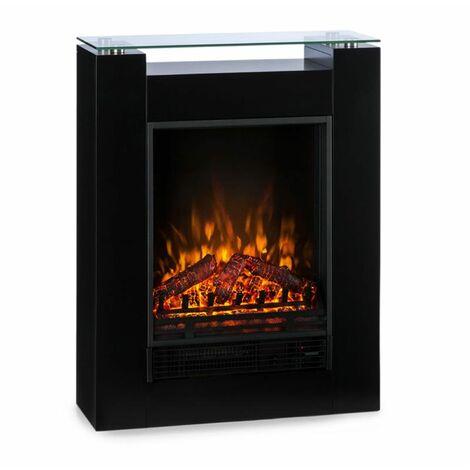 Klarstein Studio 5 Electric Fireplace Fan Heater 900/1800 W Black