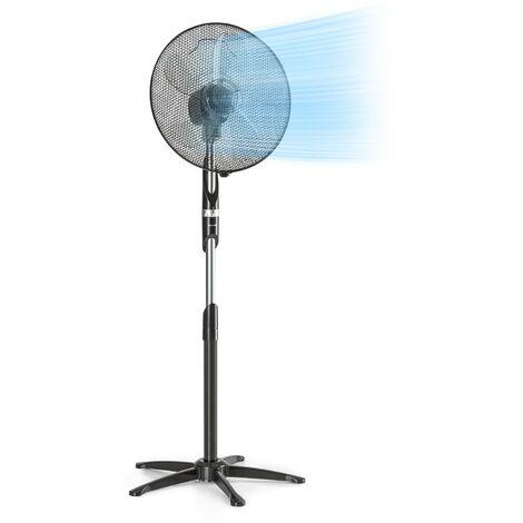"""Klarstein Summer Vibe ventilateur sur pied 16"""" 55 W 2040 m³/h Oscillation 65° noir"""