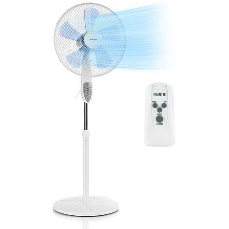 Klarstein Summerjam Standventilator Standlüfter 41cm 50W 3 Stufen weiß
