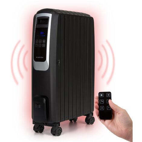 Klarstein Thermaxx Noir radiador de aceite 2.500 W 10-30 °C temporizador mando a distancia negro