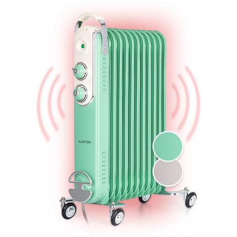 Klarstein Thermaxx Retroheat Radiador de aceite 2500W Ruedas Verde