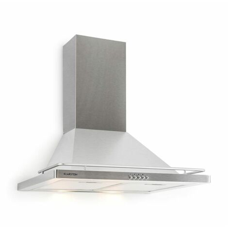 Klarstein Timea campana extractora acero inoxidable 60 cm 416m³/h colocación en pared