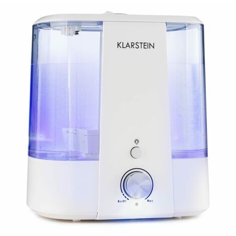 Klarstein Toledo Humidificateur d'air ultrason diffuseur d'arôme 6L LED - blanc