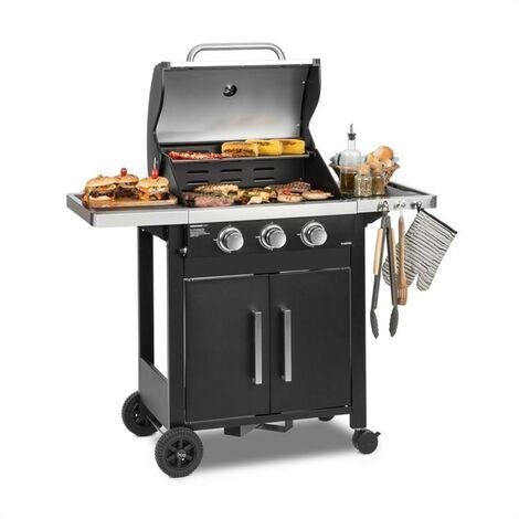 Klarstein Tomahawk 3.0 T barbecue à gaz 3 x brûleurs 3,2 kW grille de cuisson 53