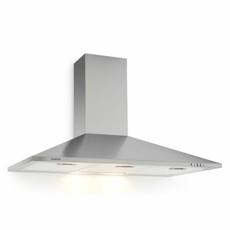 Klarstein TR90WS Extractor Fan Cooker Hood 90cm Stainless Steel