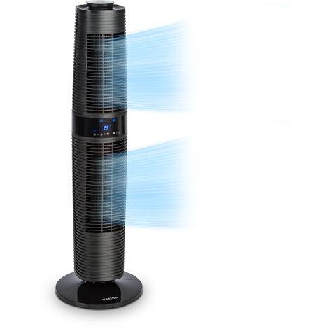 Klarstein Twister Tower Fan 45W Oscillation 343 m³ / h Max. 3 Modes Black