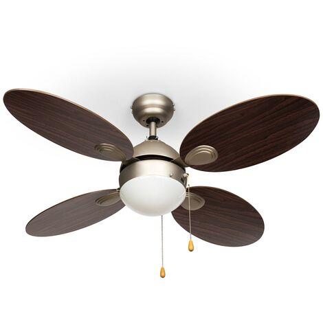 """Klarstein Valderama Ventilador de techo 2 en 1 de 42"""" 60W Lámpara de techo Palisandro"""
