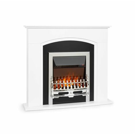 Klarstein Verbier Electric Fireplace 1000 / 2000W LED Fire Remote Control MDF White