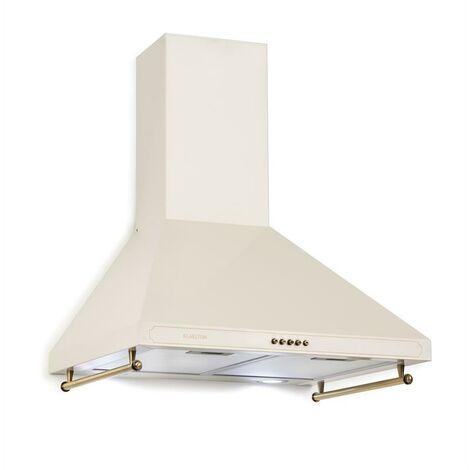 Klarstein Victoria Hotte aspirante 60cm, design rétro, 645m³/h, LED, Ivoir