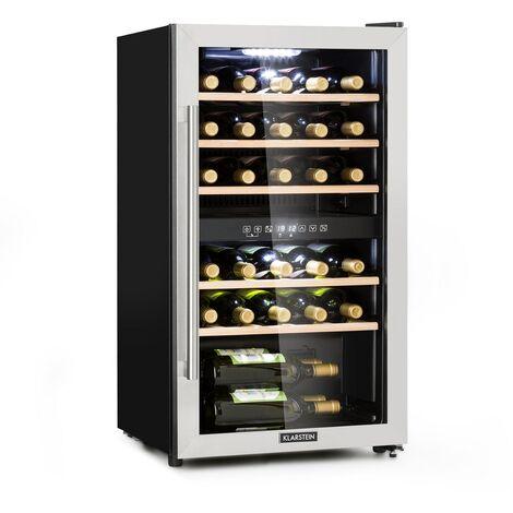 Klarstein Vinamour 29D Weinkühlschrank 2 Zonen 80L/29 Flaschen 5-22°C Touch