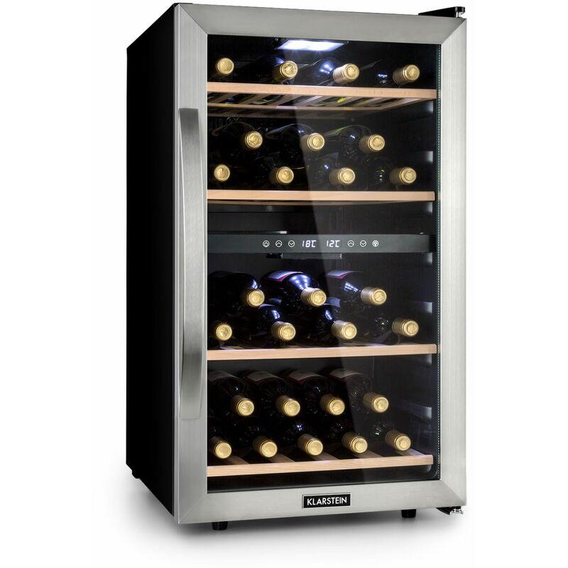 Klarstein - Vinamour 45D Wine Fridge 2 Zones 118 Ltr / 45 Bottles 5-18