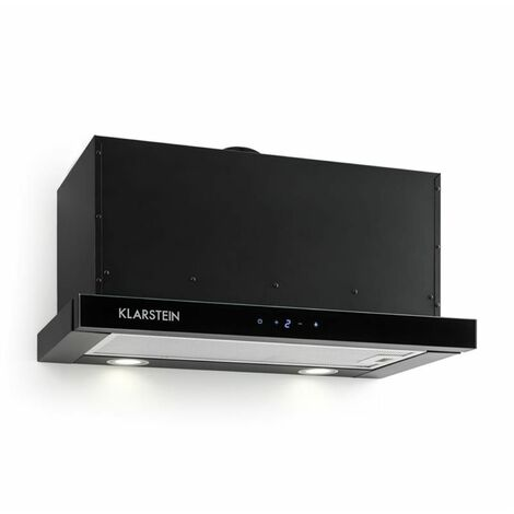 Klarstein Vinea Substructure Cooker Hood Extractor Hood Flat Screen Hood 60cm Black