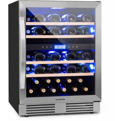 Klarstein Vinovilla Duo43 Two-Zone Wine Refrigerator 129l 43 Bottles 3-Colour Glass Door