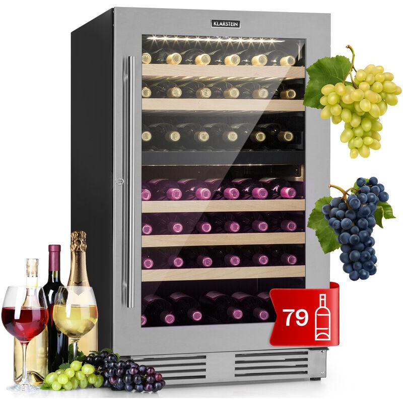 Klarstein - Vinovilla Duo79 Two-Zone Wine Cooler 189l 79 Bottles, 3-ply Glass Door