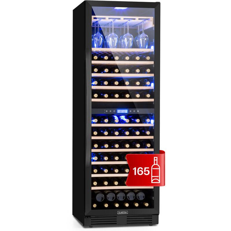 Klarstein - Vinovilla Onyx Grande Duo Large Capacity Wine Cooler 425l 165 Bottles 3 Colours Black