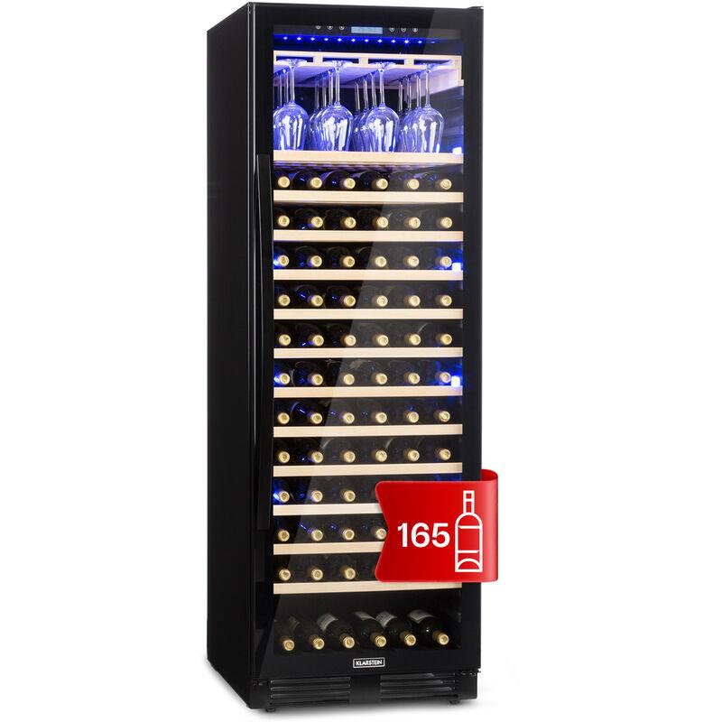 Klarstein - Vinovilla Onyx Grande Large Capacity Wine Cooler 433l 165 Bottles Black