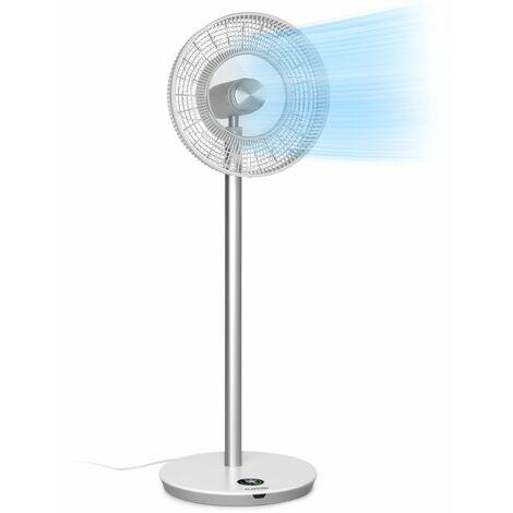 """Klarstein Whisperwind ventilateur sur pied 12"""" (30,5 cm) 9 pales 30 W max. blanc"""
