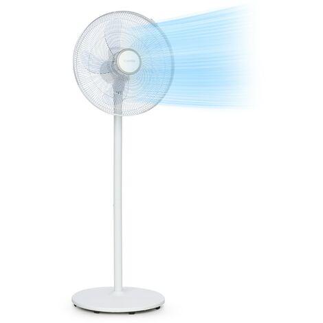 "Klarstein Windflower Ventilateur sur pied 5 pales (15""/ 38,5 cm) 3090 m³/h blanc"