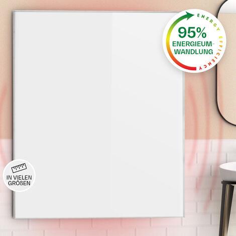 Klarstein Wonderwall 120 Panel de calefacción por infrarrojos 100x120cm 1200W Temporizador IP24 Blanco