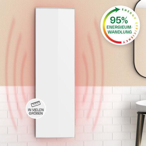 Klarstein Wonderwall 30 Panel de calefacción por infrarrojos 30x100cm 300W Temporizador diario IP24 Blanco