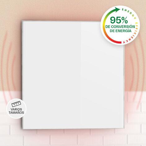 Klarstein Wonderwall 36 Panel de calefacción por infrarrojos 60x60cm 360W Temporizador diario IP24 Blanco