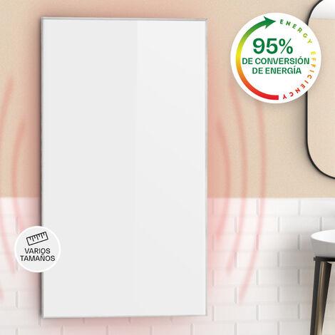 klarstein Wonderwall 45 Panel de calefacción por infrarrojos 50x90cm 450W Temporizador diario IP24 Blanco