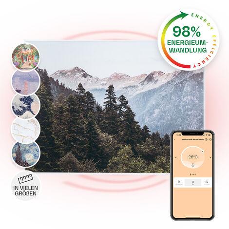 Klarstein Wonderwall Air Art Smart Panel calefactor infrarrojo 80x60cm 500W Montaje en pared Montañas