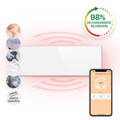 Klarstein Wonderwall Smart Calefactor por infrarrojos 30 x 100 cm 300 W Temporizador semanal IP24 Blanco