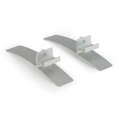 Klarstein Wonderwall Stand Stand Feet Pair Accessories for Heating Panels Aluminium