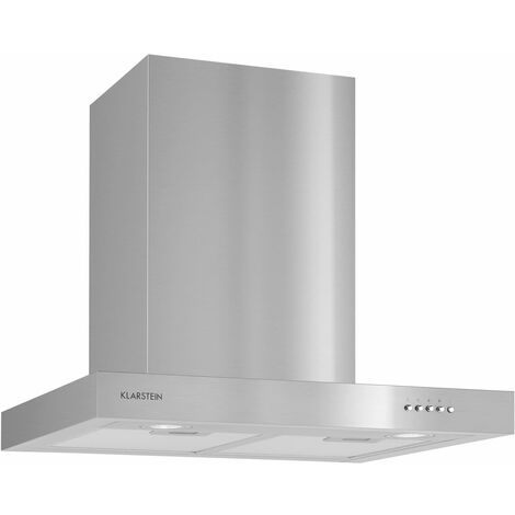 Klarstein Zarah Extractor Hood Stainless Steel Ventilator 60cm Wall Mounting 620 m³/h LED