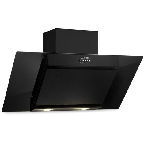 Klarstein Zola 90 Hotte aspirante tête libre 90cm 640 m³/h LED verre inox noir