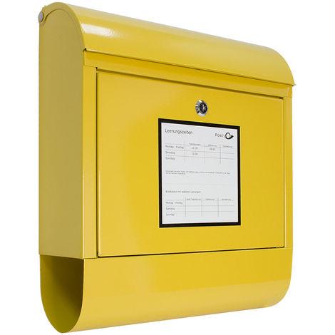 Briefkasten Wandbriefkasten mit Zeitungsfach Postkasten Mailbox Letterbox