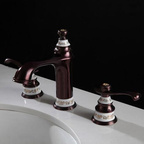 Klassischer Stil massive Messing Chrom Waschtischmischer Armatur