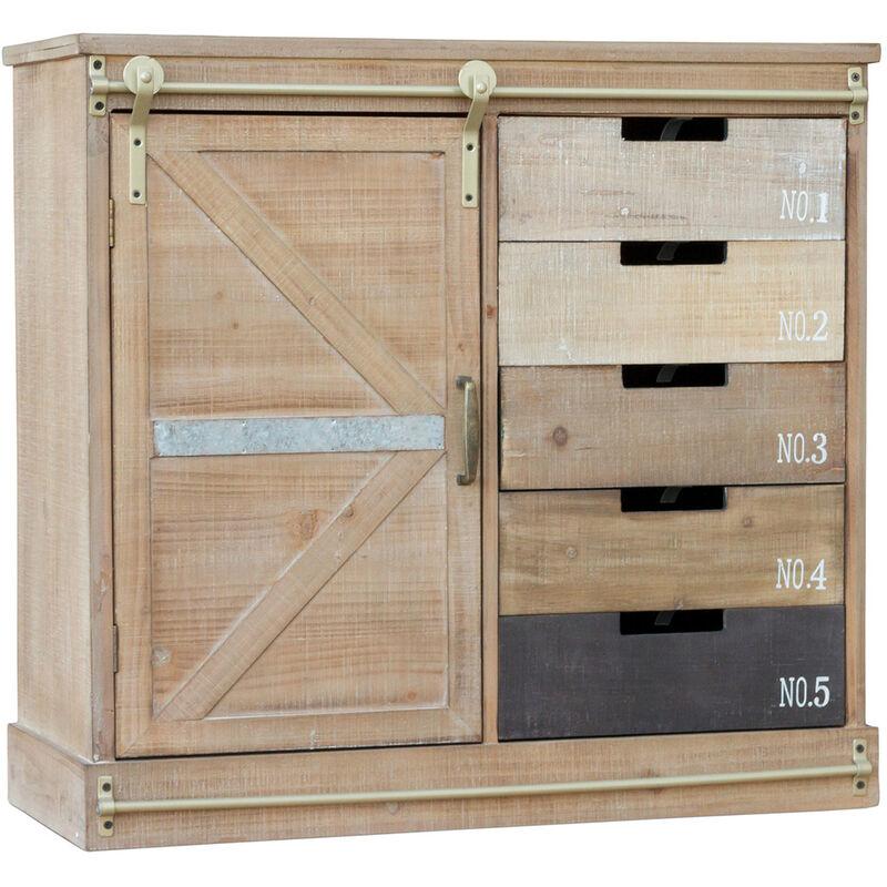 Klassisches Industrial Style Vintage Sideboard aus Holz Natural wood - PRIVATEFLOOR