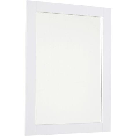 kleankin 72x52cm Home Mirror Thick Frame Large Elegant Design White