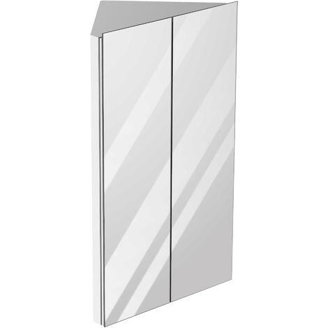 kleankin 78x45cm Corner Bathroom Mirror Cabinet w/ 3 Shelves Stroage Stylish