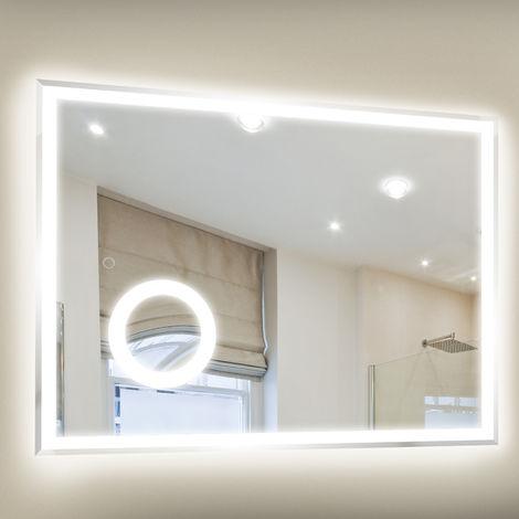 kleankin 800 x 600mm Illuminated LED Bathroom Mirror ...