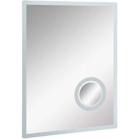 kleankin® LED Badspiegel Badezimmerspiegel Beleuchtung 65W ...