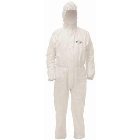 Kleenguard Combinaisons jetables A40 hooded coverall 97910 Blanc M (Emballé par 25)