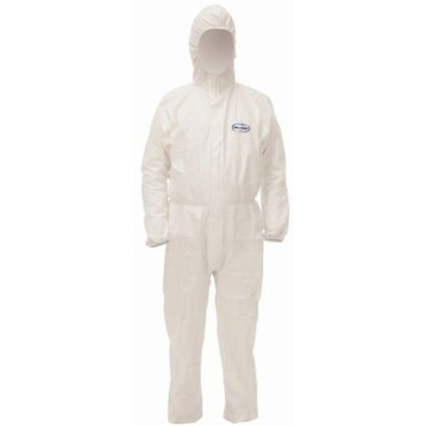 Kleenguard Combinaisons jetables A40 hooded coverall 97930 Blanc XL