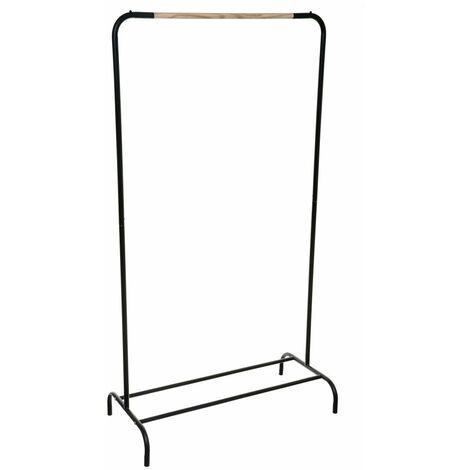 Kleiderbügel, Metallständer, 80x40x149 cm, Farbe schwarz - 5five Simple Smart
