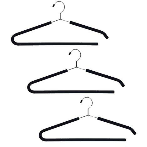 Kleiderbügel Tragen Hosen große Größen Menge von 3 - Casâme - Schwarz