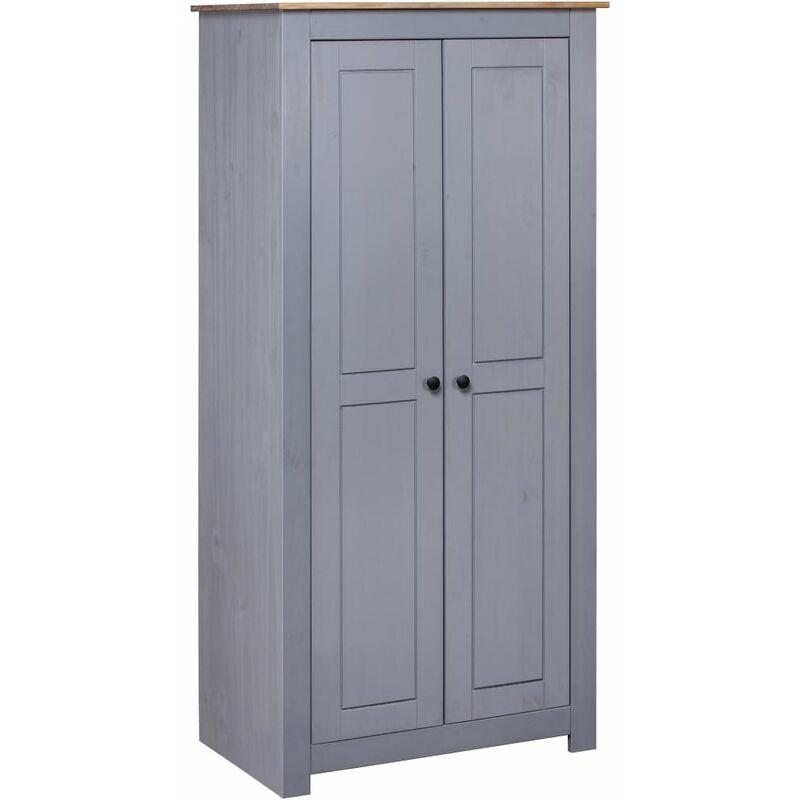 Kleiderschrank Kiefer Panama Serie Grau 80×50×171,5cm - VIDAXL