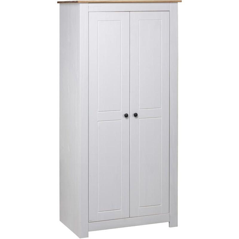 Kleiderschrank Kiefer Panama Serie Weiß 80×50×171,5cm - VIDAXL