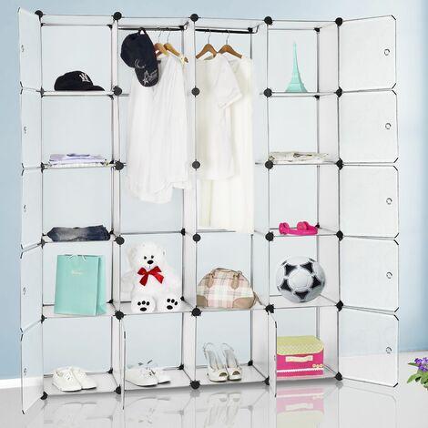 Kleiderschrank DIY Schrank Regalsystem Steckregal Badregal Schuhregal weiß
