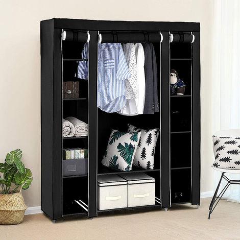 Kleiderschrank Faltschrank Wäscheschrank Stoffschrank Campingschrank für Ankleidezimmer, Schlafzimmer 172X134X43cm